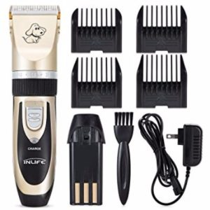 INLIFE Rechargeable Pet Hair Grooming Cordless Pet Clippers Trimming Kit Set