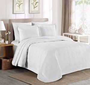 Chezmoi Collection Austin 3-piece Oversized Bedspread Coverlet Set Review
