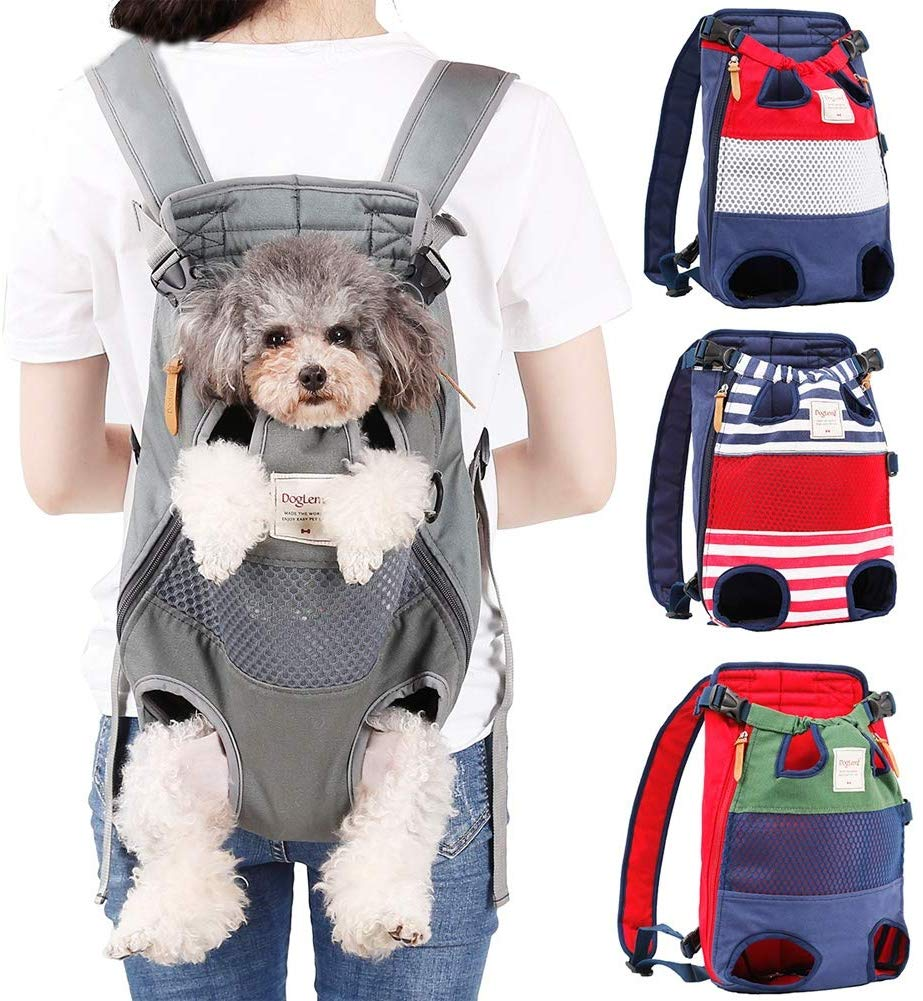 A comfortable dog carrier backpack