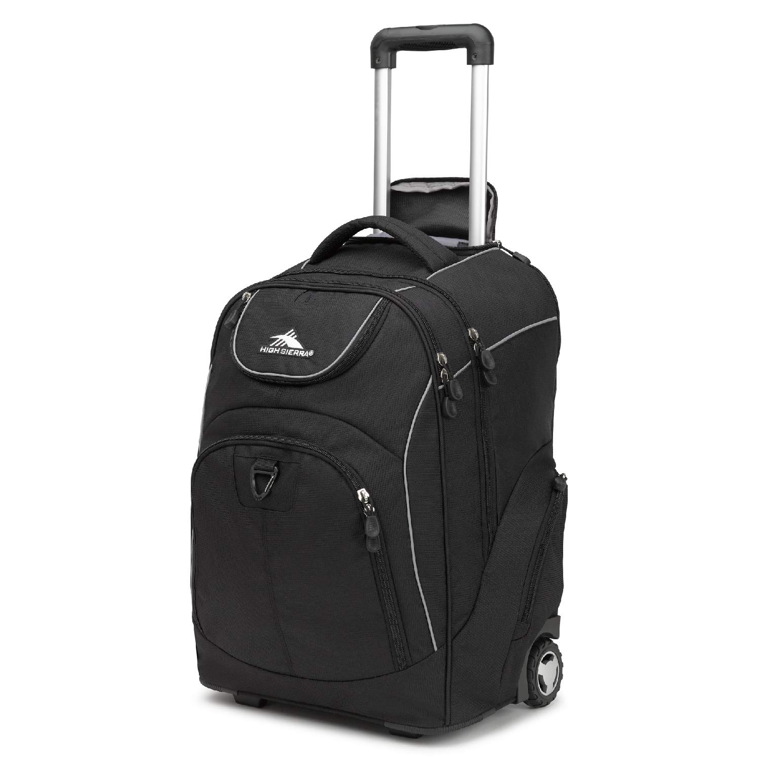 High Sierra Powerglide Wheeled Laptop Backpack for School  Fits Most 17 inch Models