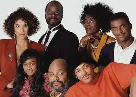 Picture showing the cast of The Fresh Prince of Bel-Air, from season one to three.