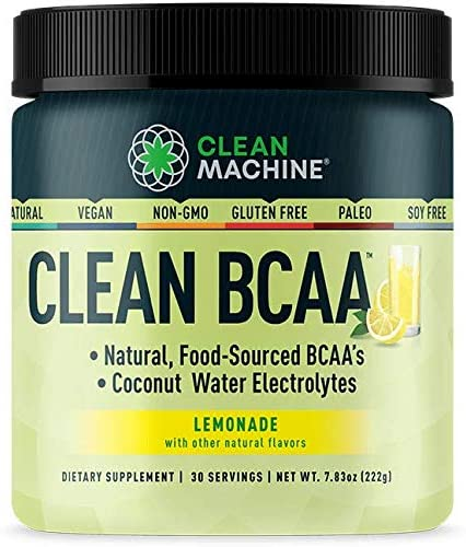 Clean Machine Natural Food Sourced BCAAs & Coconut Water Electrolytes Supplement