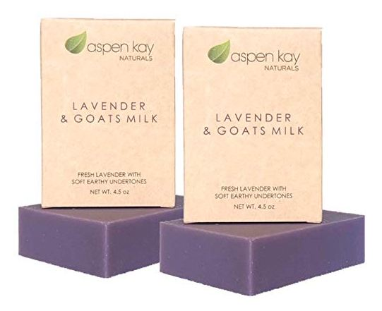 Lavender Goats Milk Soap Bar. Natural and Organic Soap. With Organic Skin Loving Oil. This Soap Makes a Wonderful and Gentle Face Soap or All Over Body Soap. 4oz Bar. 2 Pack