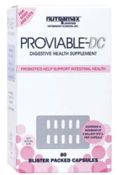 Nutramax Laboratories Proviable DC for Cats and Dogs, 80 Capsules