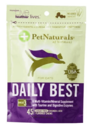 Pet Naturals of Vermont - Daily Best for Cats Soft Chews Chicken Liver Flavored - 45 Chewables