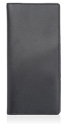 Royce Leather Luxury Slim Briefcase Handcrafted in Saffiano Leather and Suede Lining, Black, One Size